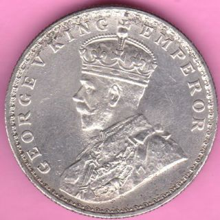 British India - 1919 - King George V - One Rupee - Rarest Silver Coin - 16 photo