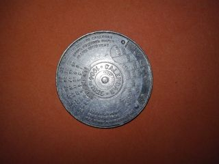 Medal Of Calendar Rosbach Water Table - Aluminum - From 1904 To 1925 Rotates Freel photo