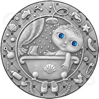 Belarus 2009 20 Rubles Zodiac Aquarius Unc Silver Coin photo