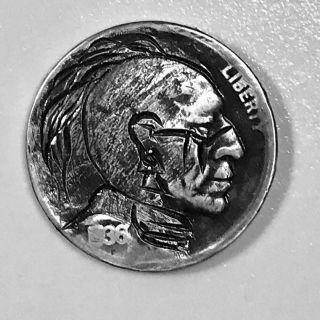 Hand Carved Hobo Nickel - Buffalo Nickel -