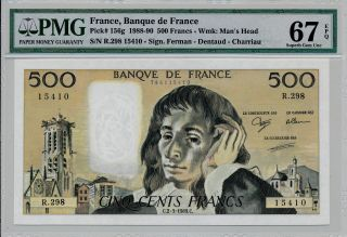 Banque De France France 500 Francs 1989 Pmg 67epq photo