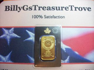 1 Oz Royal Canadian Gold Bar - In Assay Card Unique Serial 727835 Freeship photo