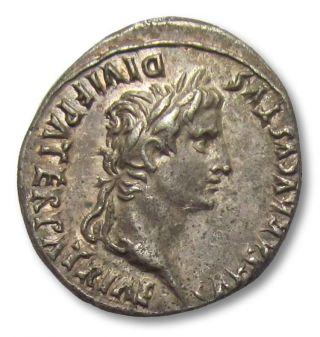 Ar Denarius Augustus,  Lyon / Lugdunum 2 B.  C.  - 4 A.  D.  - - Gaius & Lucius - - photo