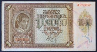 Croatia 1000 Kuna 1941 photo
