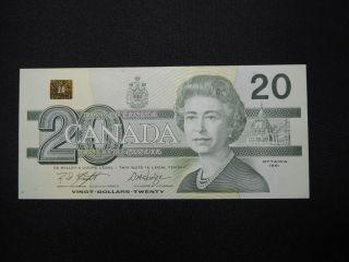 1991 $20 Dollar Bill Bank Note Canada Knight - Dodge Evv9935000 Unc Bird Series photo