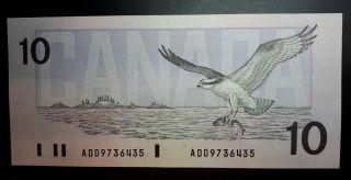 $10 1989 Banknote - Bank Of Canada - Canada - Unc photo
