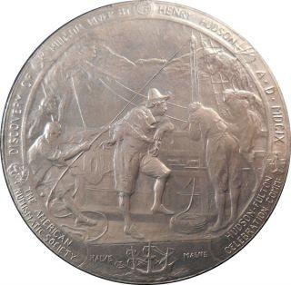 1909 50 Mm Aluminum Hudson - Fulton Medal By Emil Fuchs Ans Whitehead - Hoag photo