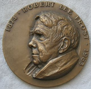 Maco.  Robert Frost Memorial Medal,  1964 By Sedgwick photo