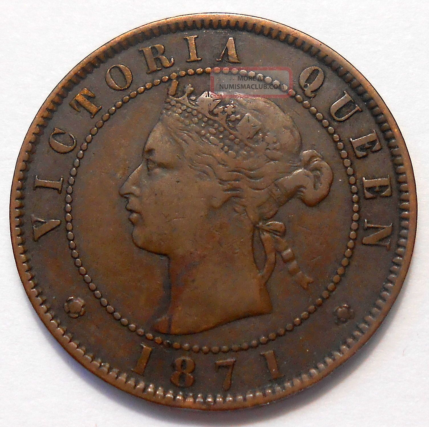 1871 Prince Edward Island Large Cent Vf Sharp Only Victoria Pei Penny Coins: Canada photo