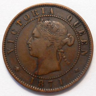 1871 Prince Edward Island Large Cent Vf Sharp Only Victoria Pei Penny photo