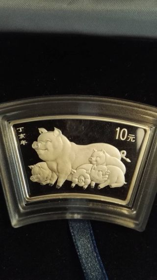 China - 10 Yuan - Year Of The Pig - Proof photo