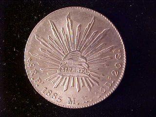 Cap & Rays 8 Reales 1885 Pi Mh photo