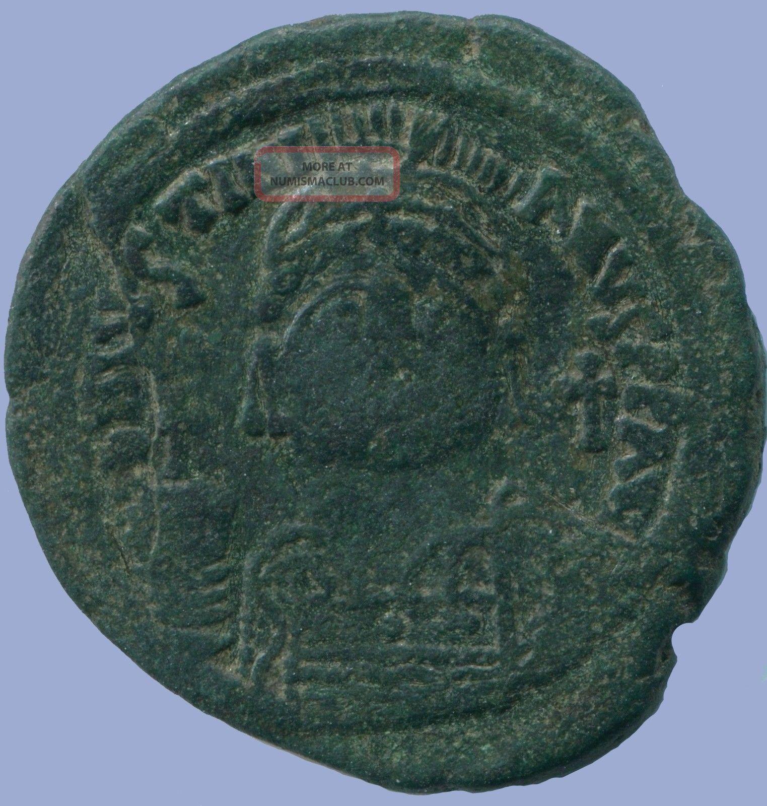 Justinian I Æ Follis Constantinople 542/543 18.  01 G/35.  58 Mm Anc13668.  16 Coins: Ancient photo