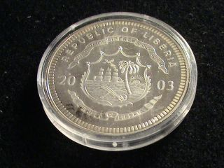 Republic Of Liberia,  2003 Twenty Dollar Coin,  Seminole War Zrg 86 photo