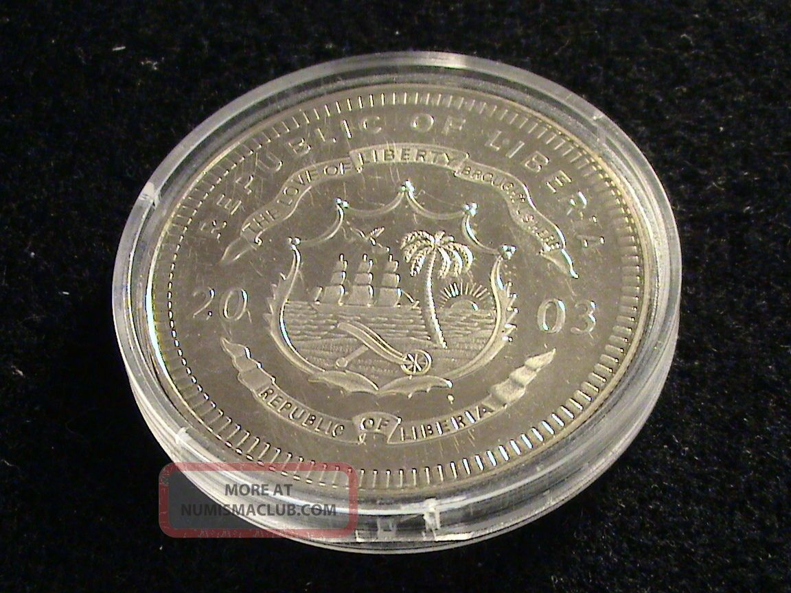 Republic Of Liberia 2003 Twenty Dollar Coin Tripolitan