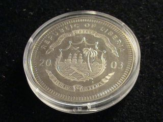 Republic Of Liberia,  2003 Twenty Dollar Coin,  Tripolitan War Zrg 83 photo