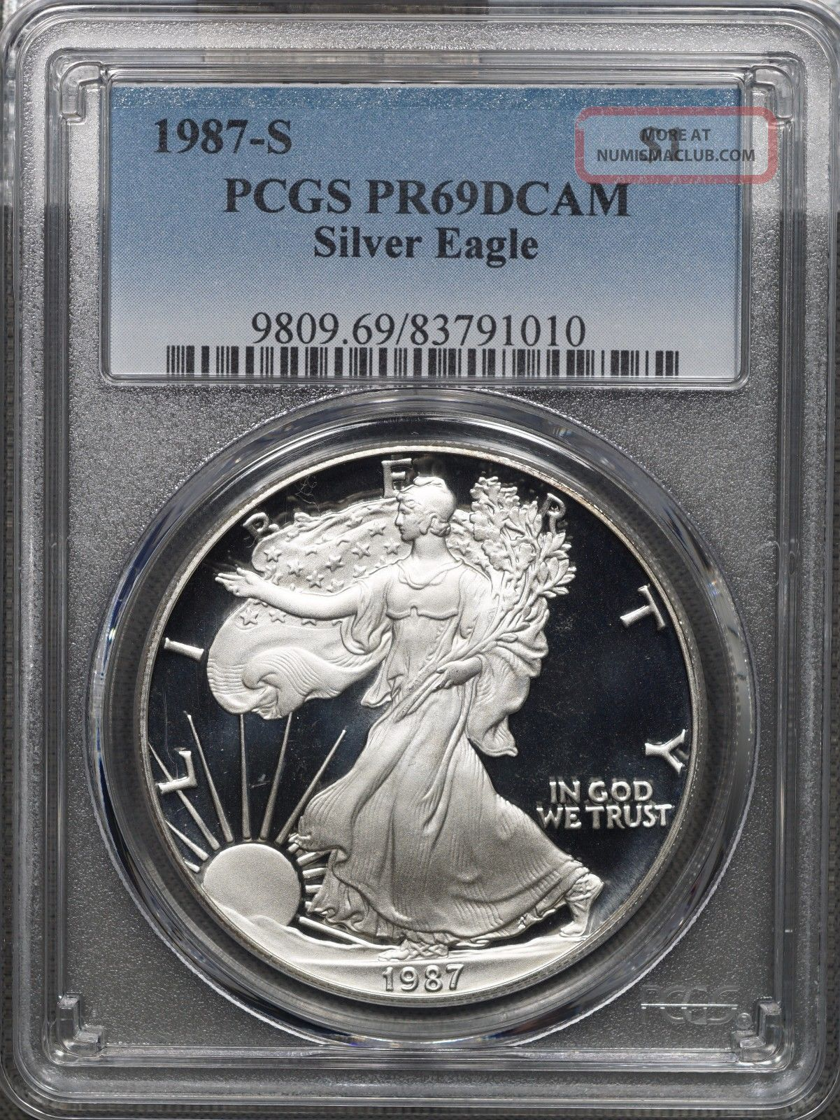 1987 S American Silver Eagle Proof Pcgs Pr69 Dcam