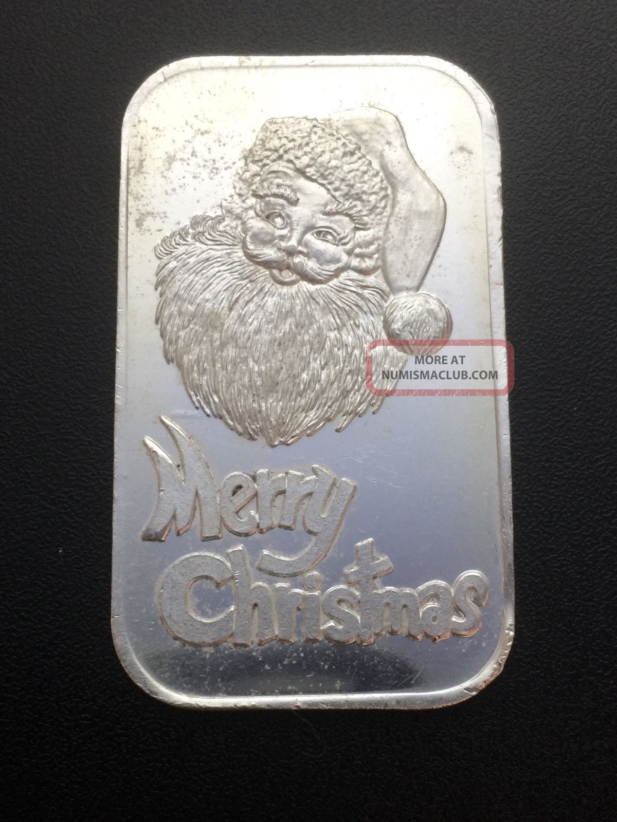 Silvertowne Merry Christmas 1 Oz 999 Fine Silver Bar Cr3