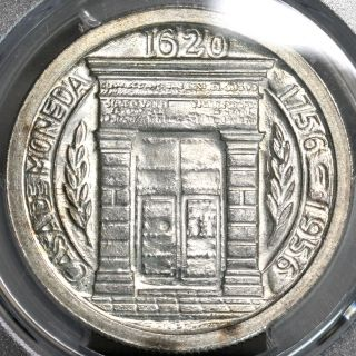 1956 Pcgs Ms 65 Colombia Silver Peso 200th Year Popayan Coin (15122102d) photo