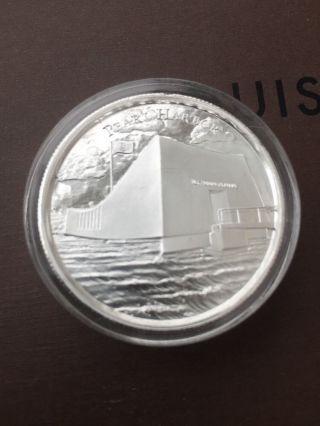 Silver Round 2 Oz Pearl Harbor photo
