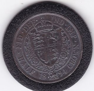 1894 Queen Victoria Half Crown (2/6d) - Sterling Silver Coin photo