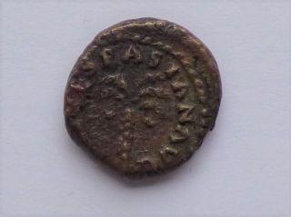 Judea Capta Quadrans Smallest Denomination Vespasian 72 Ce Hendin 1571 photo