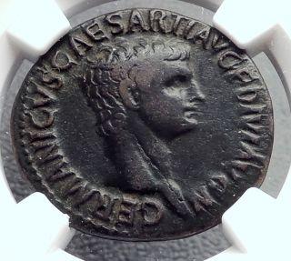 Germanicus Julius Caesar 37ad Rome Ancient Roman Coin By Claudius Ngc I60427 photo