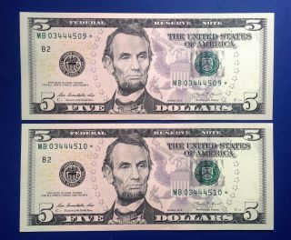 $5 2013 Frn Fr - 1996 - B (2) York Uncirculated photo