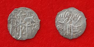 H65: Medieval Europe: Bulgaria:ivan Alexander& Michael Asen - 1331 Silver Coin photo