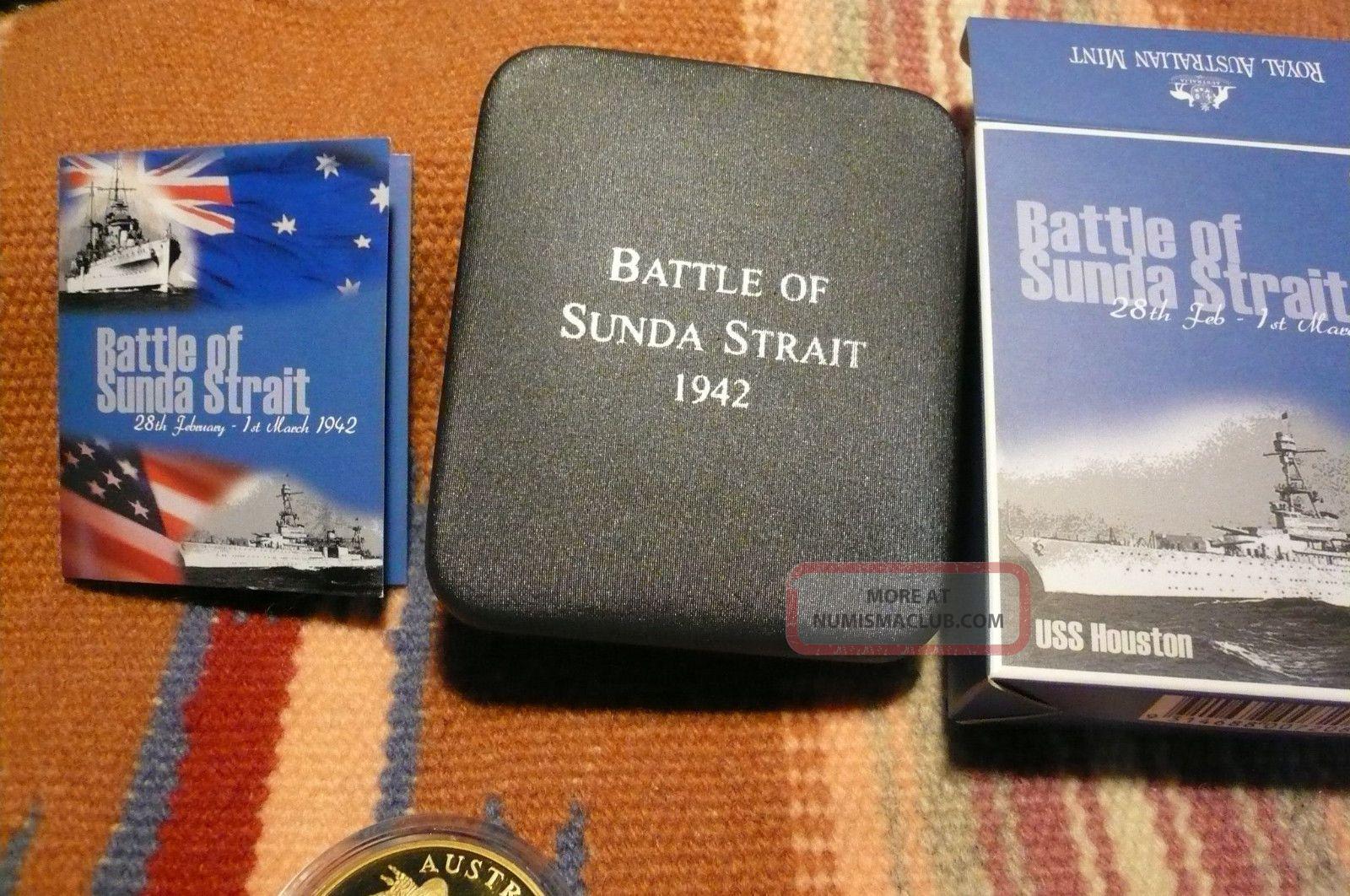 2002 Royal Australian 5 Dollars Battle Of Sunda Strait 1942