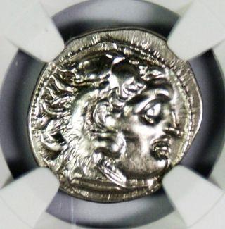 Greek Kingdom Of Thrace Lysimachus Ar Drachm Bc 305 - 281 Ngc Au photo