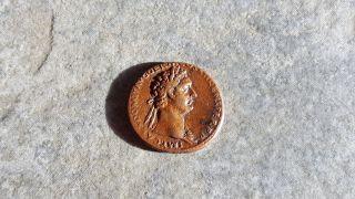Ngc Roman Bronze As,  Infamous Emperor Domitian,  Virtus,  Graded