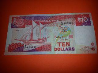 Singapore 1988 $10 Note C17 Series Paper Money,  Singapura photo