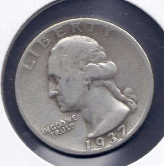 Washington Silver Quarter 1937 P Silver Washington Quarter 90 Silver photo