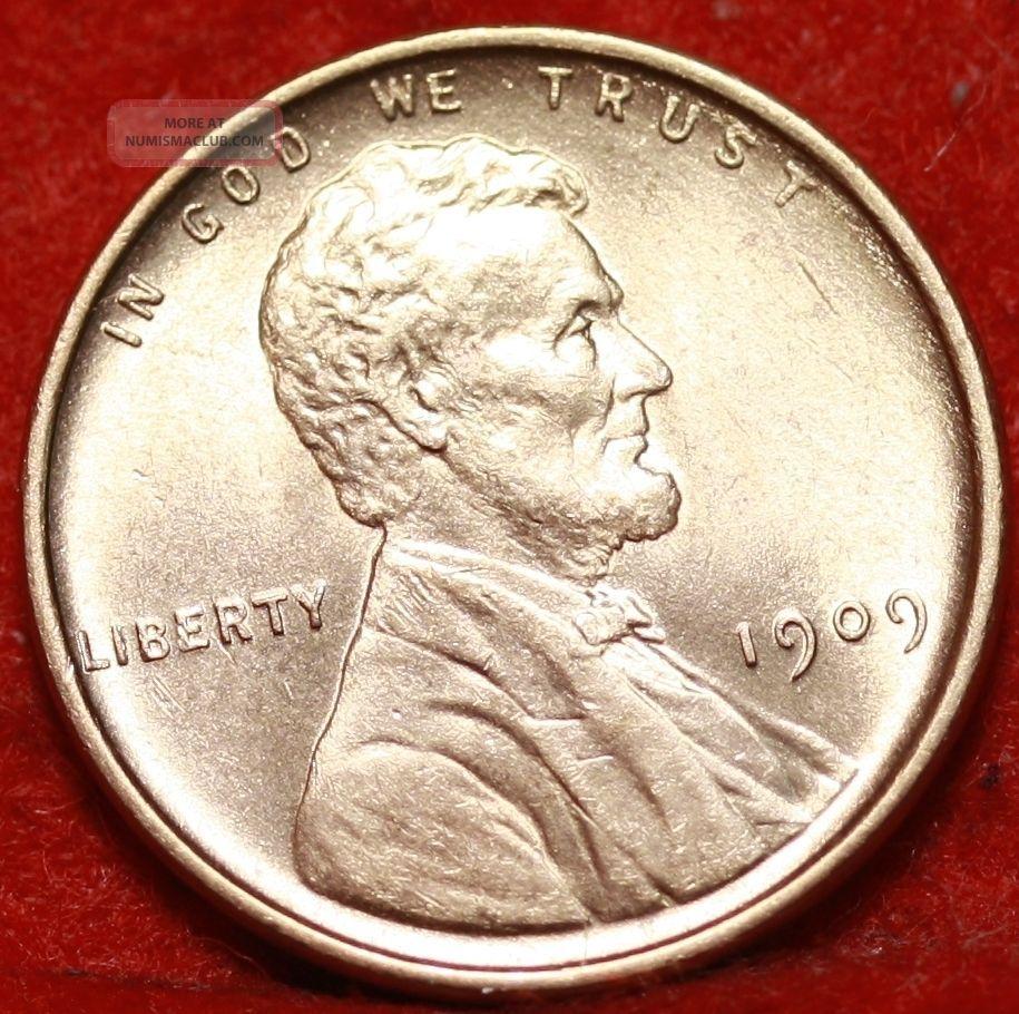 1909 Philadelphia Copper Lincoln Wheat Cent Small Cents photo