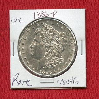 1886 Morgan Us Silver Dollar 78046 Brilliant Uncirculated Ms,  State Estate photo