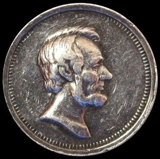 1865 Silver Abraham Lincoln Assassination Medal Julian - Pr - 36 photo