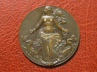 Art Deco Ocean Liner Liberte Compagnie Generale Transatlantique Medal By Vernon photo