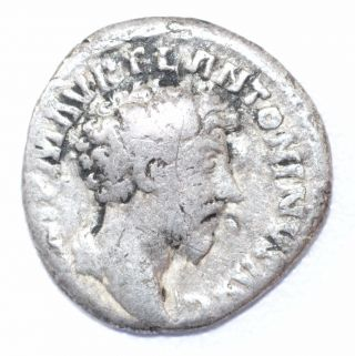 Authentic Marcus Aurelius,  Silver Denarius,  Roman Coin,  Rv.  Concordia - A902 photo