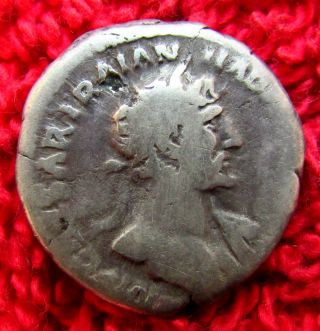 Stunning Roman Ar Denarius Hadrian 117 - 138 Ad (918 -) photo