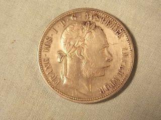 Austria 1884 Lod.  Ill.  Rex A.  A.  1884.  Hvngar.  Bohem.  Gal 1 Florin 90 Silver photo