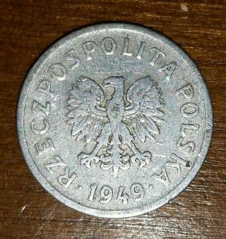 Poland 1949 10 Grosky Coin photo