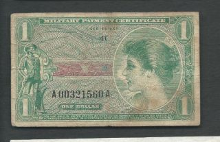 United States (usa) Mpc 1969 1 Dollar Series 651 P M72e Circulated photo