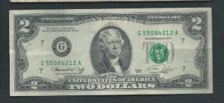 United States (usa) 1976 2 Dollars P 461 Circulated photo