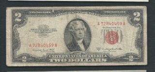 United States (usa) 1953 2 Dollars P 380b Circulated photo