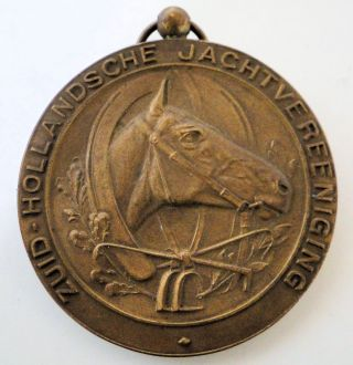 Large Dutch Bronze Horse Medal Stirrup Horse Shoe Whip photo