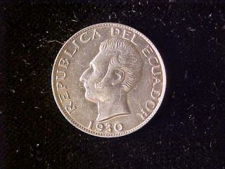 Ecuador Fifty Centavos 1930 Choice Bu photo