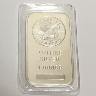 1 - Eagle - Sunshine Minting 1 Troy Ounce.  999 Fine Bar Fine Silver photo