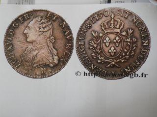 Gorgeous France Silver Crown Louis Xvi 1790 écu Crown Bayonne L 29.  40 Gr.  41 Mms photo
