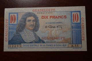 French Guadeloupe 10 Francs 1947 photo